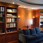 Mobilier intégré, panneaux muraux (lambris), portes et cadres, anigré figuré
