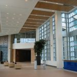 BELL CAMPUS, PHASE 1 : reception desk, wall and ceiling panels