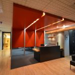 GAGNON & BRUNET AVOCATS : reception desk, feature walls and ceiling, doors and frames